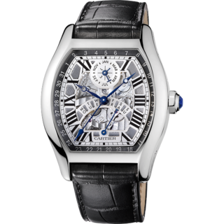 The Tortue Perpetual Calendar Watch in white gold by Cartier