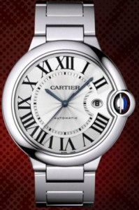 Image - Dial Detail of the Cartier Medium Sized Ballon Bleu Watch