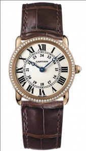 Image - Ronde Louis Cartier Rose Gold & Diamonds WR000351 Watch