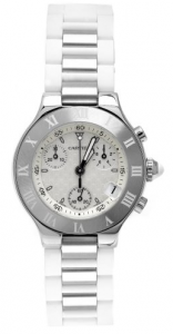 The women's Cartier Must 21 W10197U2 timepiece.