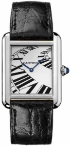 Cartier Tank Solo Collection Steel Alligator Watch W5200017
