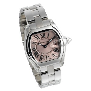 Cartier Women's W62017V3 Roadster Pink Dial Watch