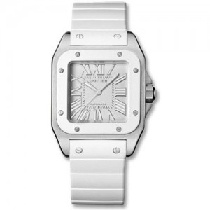 Image of the face of the Cartier Santos 100 W20122U2