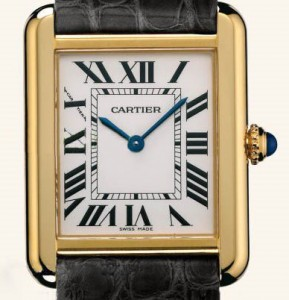 cartier tank solo close view
