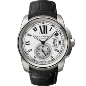 An image of the Cartier Calibre Steel W7100013 Men's Watch Review