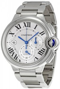 Cartier Ballon Bleu Silver Dial Chronograph Mens Watch W6920002