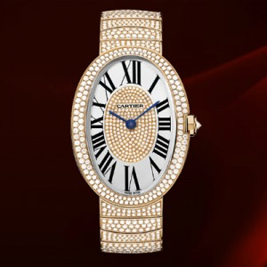 Cartier Baignoire HP100325, pink gold and diamonds