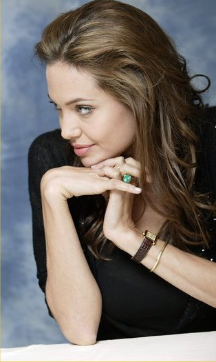 Angelina Jolie wearing Cartier
